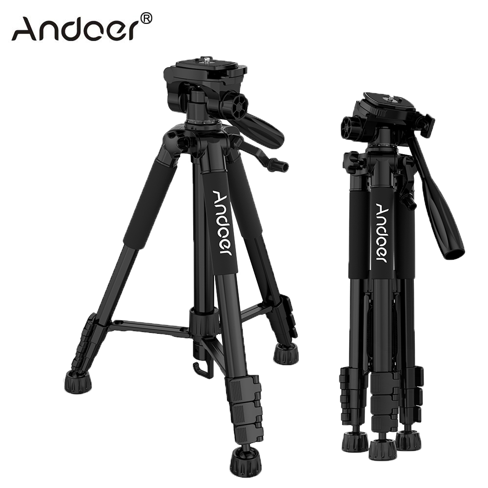 XMP Camera Tripod,Compact Light Aluminium Tripod Color : B, Size : Bluetooth Remote Control Ball Head and Carrying Bag Travel for DSLR Canon Black