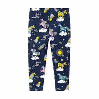 Funfeliz Leggings for Girls 2019 Summer Fall Unicorn Cartoon Print Girls Pencil Pants Children Trousers 2T-7T Cotton