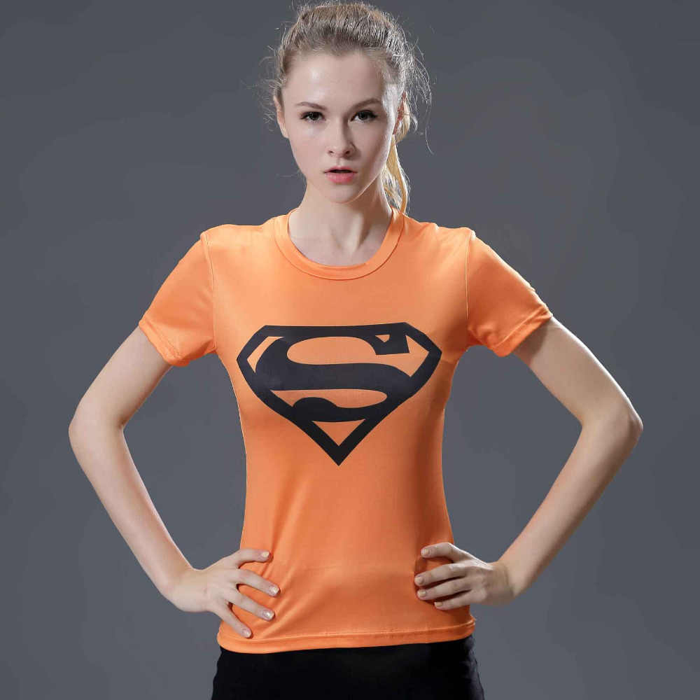 Marvel Heroes T Shirt Donna T-Shirt Moda Didascalia America 3D Stampa Avenger Compressione Shirt Top Superman Camicia Collant