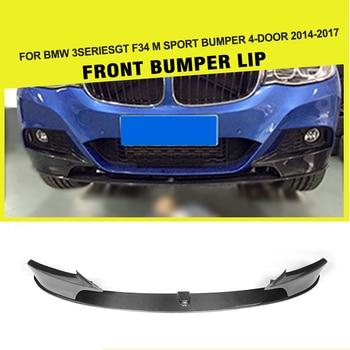 สำหรับ BMW 3 Series F34 GT M Sport Racing ด้านหน้ากันชนลิป Splitter Flaps Guard Protector 2014-2017 เส้นใย/FRP