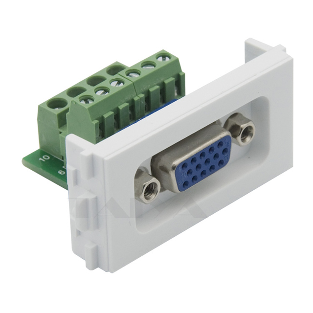 36 vga connector wall plate with backside screw connector in 36 vga connector wall plate with backside screw connector ccuart Gallery