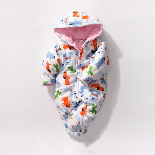 Bebê macacão de inverno crianças para baixo macacão infantil roupa do natal das meninas do menino fleece romper onesie grenouille Outerwear snowsuit