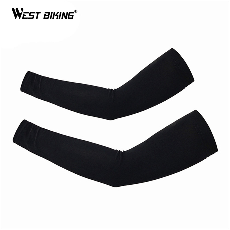 WEST BIKING MTB Cycling Cuff Outdoor Sun Protection Bike Basketball Fishing Arm Sleeves Running Volleyball Cycling Arm Warmers sahoo 45545 outdoor cycling polyester arm sleeves white green pair xxl