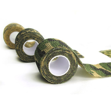 Outsp 2Roll Self-adhesive Telescopic Outdoor Military Camouflage Tape Hunting Shooting Latency Plasters Tapes Hunting Accessory