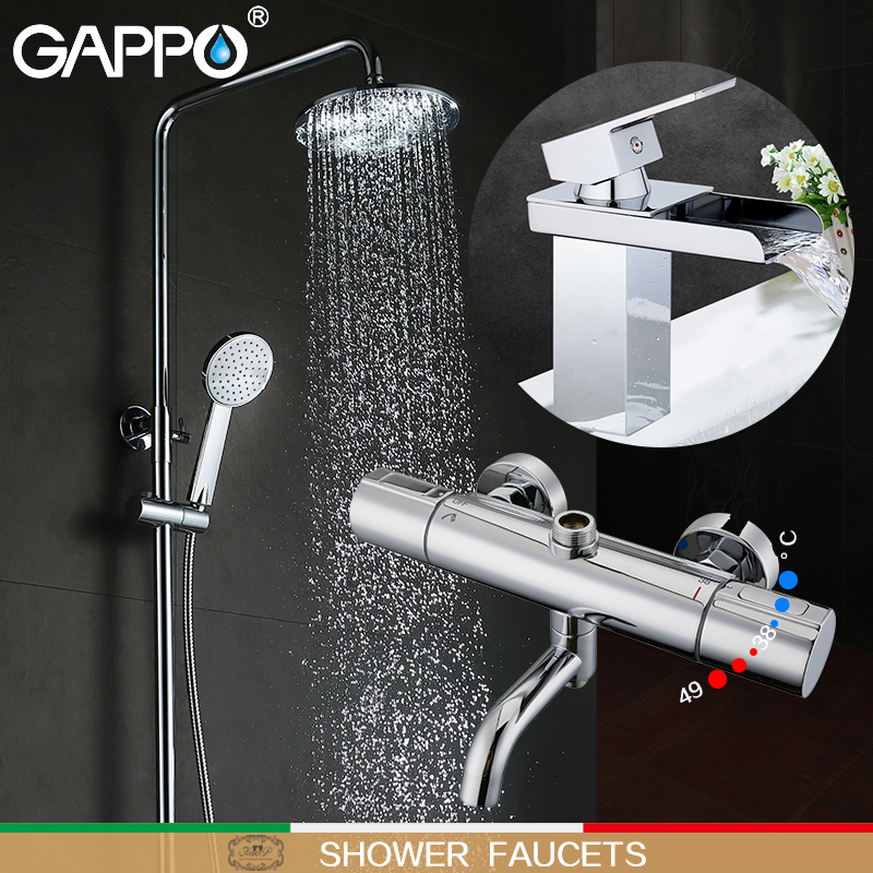 GAPPO смеситель для душа ванна кран s Термостатический смеситель для умывальника термостатический Ванна смеситель воды