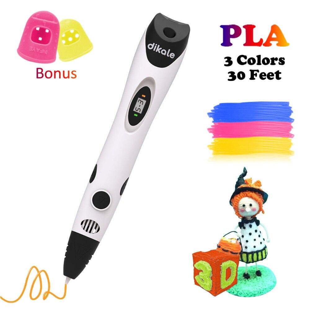 Dikale 3D Canetas Pen Impressão Criativa 7th Geração Impresora Magica 3D Caneta Rabisco Caneta Desenho da Pena PLA Filamento Kid Adulto presente