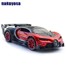 New Collectible Model Cars Bugatti Model Car 1 32 Alloy Diecast Pull Back Electronic Car With