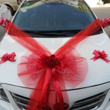 Wedding Car Accessory Decoration Flower Cover Butterfly Knot