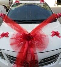 Свадебный автомобиль аксессуар украшение цветок крышка бабочка узел моделирование Роза автомобиль конвой украшения специальные свадебные предметы