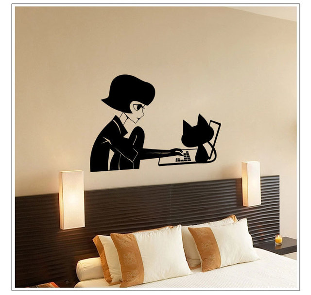 Puff Miss Entertainment Equipment Bedroom Living Room Decoration Wall  Decoration Cartoon New Mural