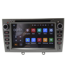 7 inch Quad Core Android 5.1 car stereo radio for Peugeot 308 408 Car DVD with 3G WIFI Radio GPS Navigation RK3188 SWC