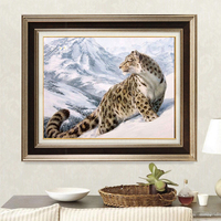 Snow Leopard Animals DIY Digital Painting By Numbers Kits Drawing Modern Wall Art Canvas Painting For