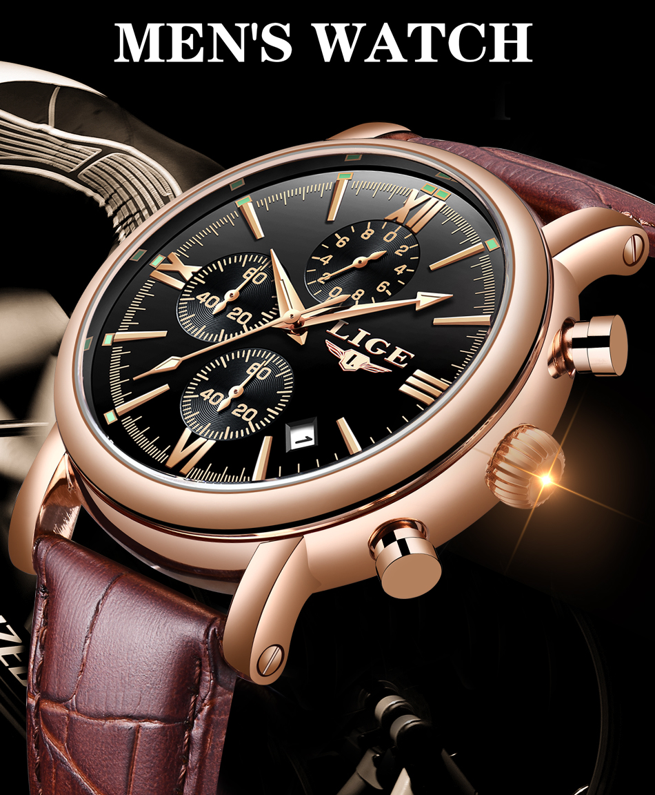 HTB1PwMNaF67gK0jSZPfq6yhhFXap 2019 LIGE Business Leather Fashion Waterproof Quartz Watch For Mens Watches Top Brand Luxury Male Date Clock Relogio Masculino