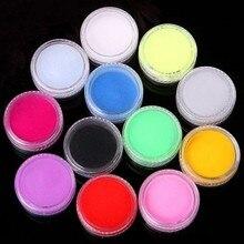 цены 12 Colors/set Acrylic Powder Dust UV Gel Design 3D Tips Decoration Manicure Nail Art