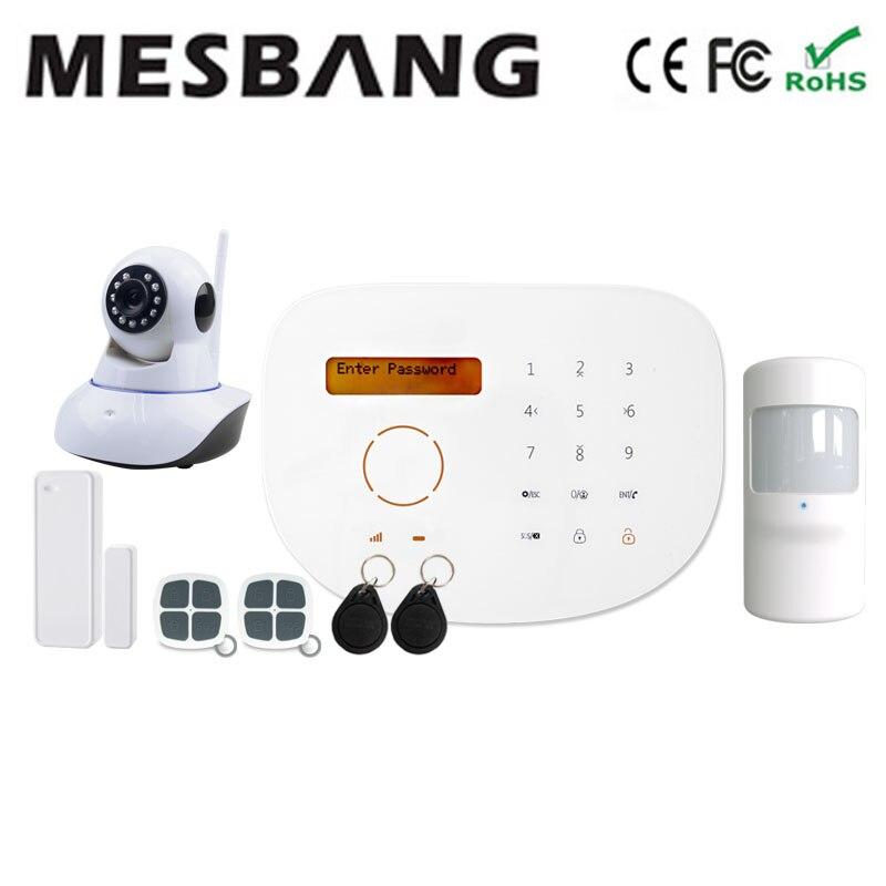 Système d'alarme intelligent gsm avec caméra wifi APP RFID espagnol italien anglais langue livraison gratuite