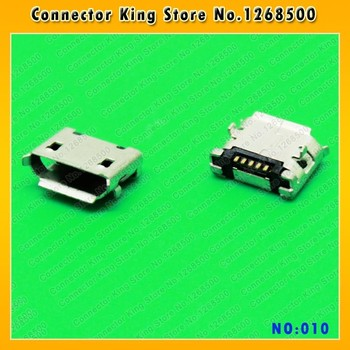 Micro 5pin usb connector dip 6.4 female B type Micro USB Jack Charging port for HTC E66 N95 E52 N81 5310 OPPO R809T,MC-010 image