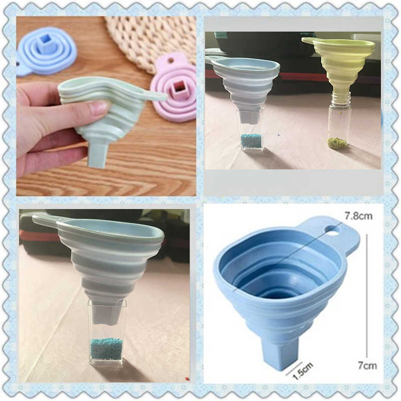 New diamond Embroidery Accessories Tool Convenient Foldable Silicone Funnel Diy Diamond Painting Tools Diamond Mosaic Tools