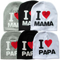 Spring Autumn Baby Hats Baby Knitted Hat Warm Cotton Beanie I LOVE PAPA MAMA Print Toddler Baby Caps Kids Girl hats Boys Cap