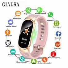 Купить с кэшбэком New Women Sport Smart Watch Men IP67 Waterproof SmartWatch Heart Rate Blood Pressure Pedometer Watch Clock For Android iOS