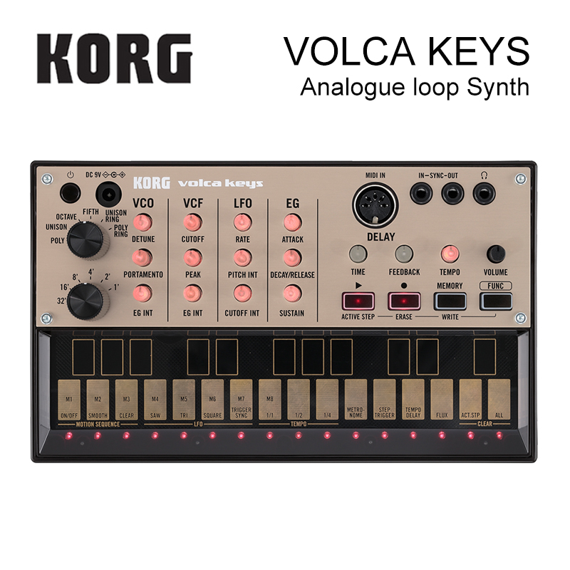 Korg Volca Keys Analog Synthesizer Polyphonic Analog Sound Engine and Loop Sequencer Introductory Synthesizer pc hidic for hitachi h2000 h300 h700 series plc oem pchidic plc programming cable free shipping