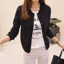Korean women's sweater cardigan sweater coat a thin and shor