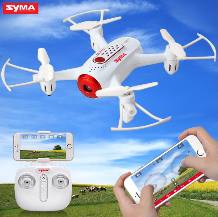 SYMA Official X22W Drones With Camera FPV Wifi Real Time Transmit Headless Mode Hover RC Helicopter Quadcopter Drone Dron Red