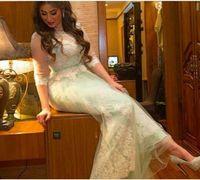 New Arrival Lace Appliques Cap sleeve Mermaid Evening dresses Robe de soiree Long evening dress