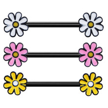 2PCS New Arrival Cute Flowers Nipple Rings For Women Trendy Nipple Rings Bar Studs Fashion Stainless Steel Body Piercing Jewelry