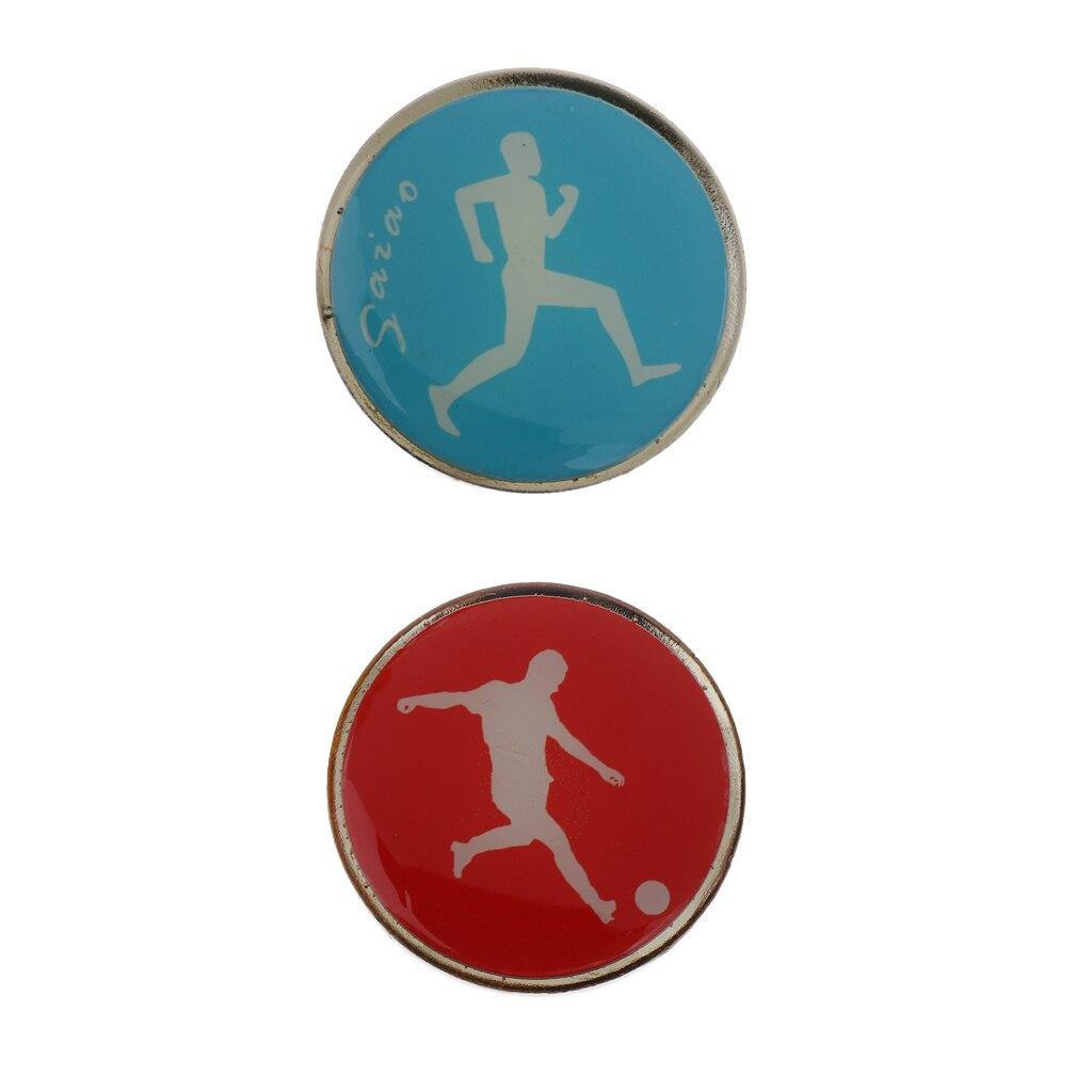 Metal & Rubber Football Soccer Referee Flip Toss Coin 3.5cm Diameter For Soccer Football Badminton Table Tennis