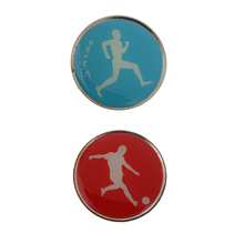 Metal & Rubber Football Soccer Referee Flip Toss Coin 3.5cm Diameter for Badminton Table Tennis