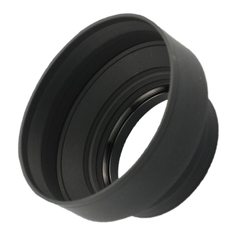Pentax Nikon Sony Fujifilm CamDesign 72MM Collapsible Rubber Lens Hood Compatible with Canon Samsung Olympus and Panasonic Lens