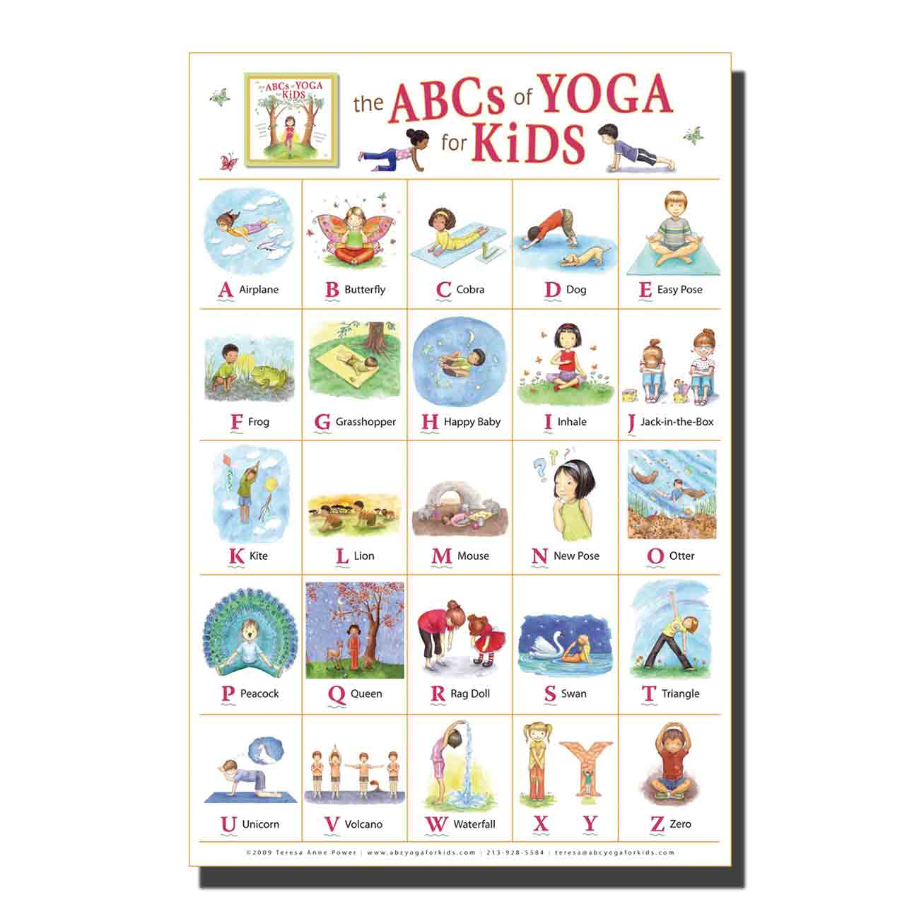 US $338.338 38% OFFMy ABC Alphabet Yoga Pose Learning Table Kids Children Art  Poster custom Home Wall decor 1338x138 3384x38canvas living roomdecorWall
