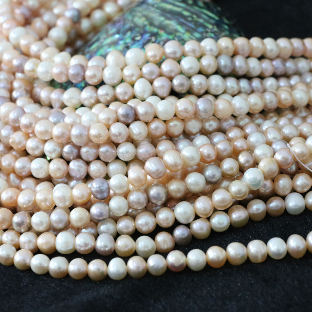 Hot sale natural freshwater pearls beads 7-8mm multicolor approx round Fashion jewelry making 15inch B1363
