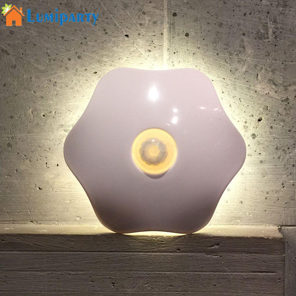 LumiParty Cute Night Light 6-Leaf Plant Human Body Induction/Remote Control Night Light Lamp Stylish LED Lamp Decoration