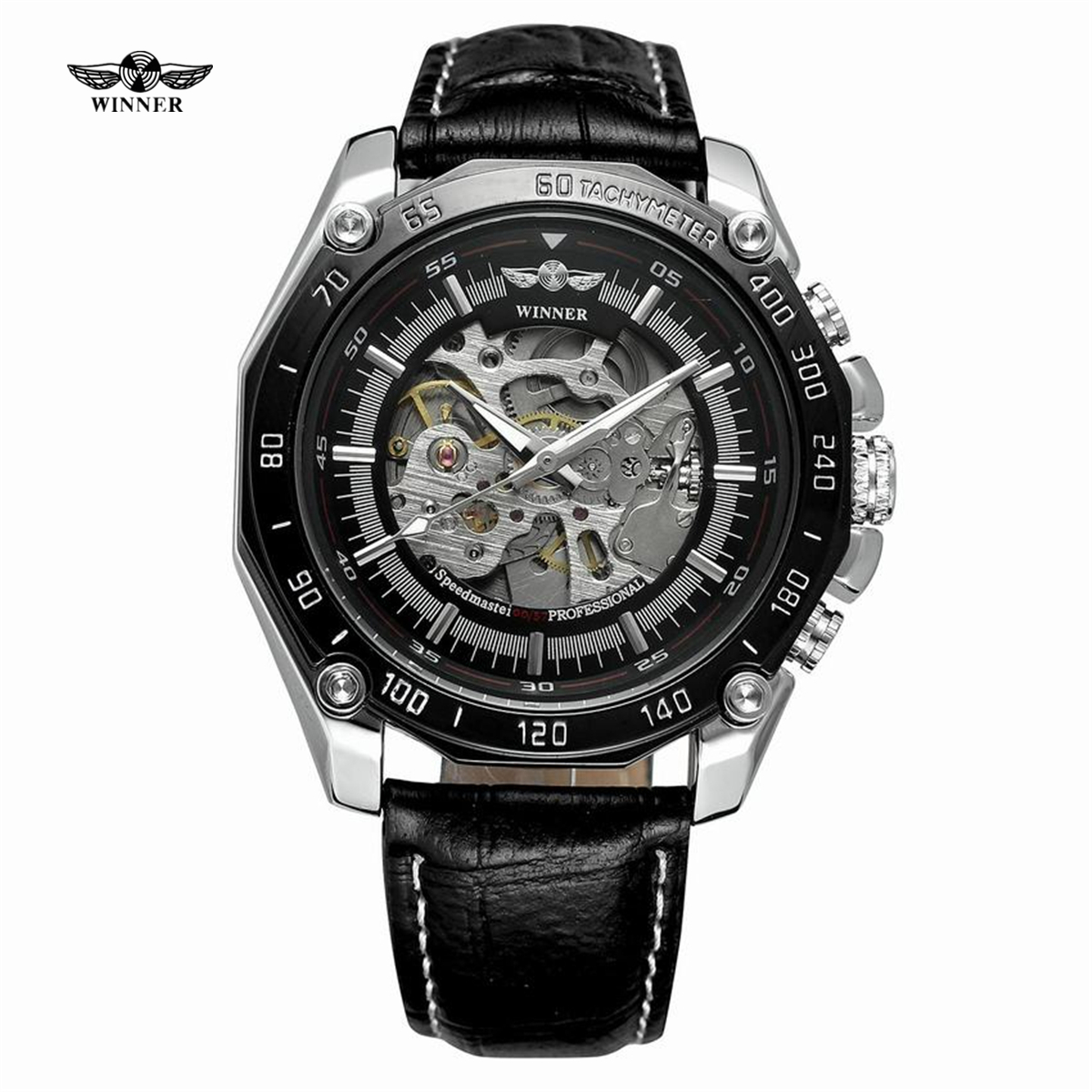WINNER Luxury brand Clock Men Automatic Mechanical Watch Skeleton Military Relogio Male Montre Men Watches Relojes Hombre new relogio esqueleto winner mens watches luxury sport men s automatic skeleton mechanical military watch relogios masculinos