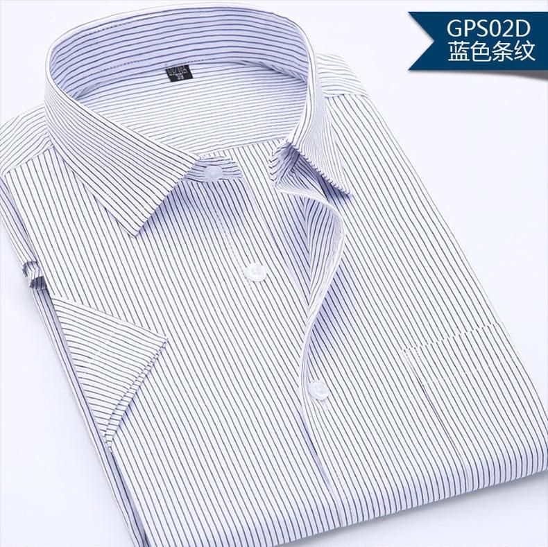 Camisas casuais masculinas, cor sólida, de manga