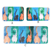 Ouneed Pet Cat Printed Bathroom Kitchen Rugs Doormats Cat Carpet For Living Room Non Slip Mats