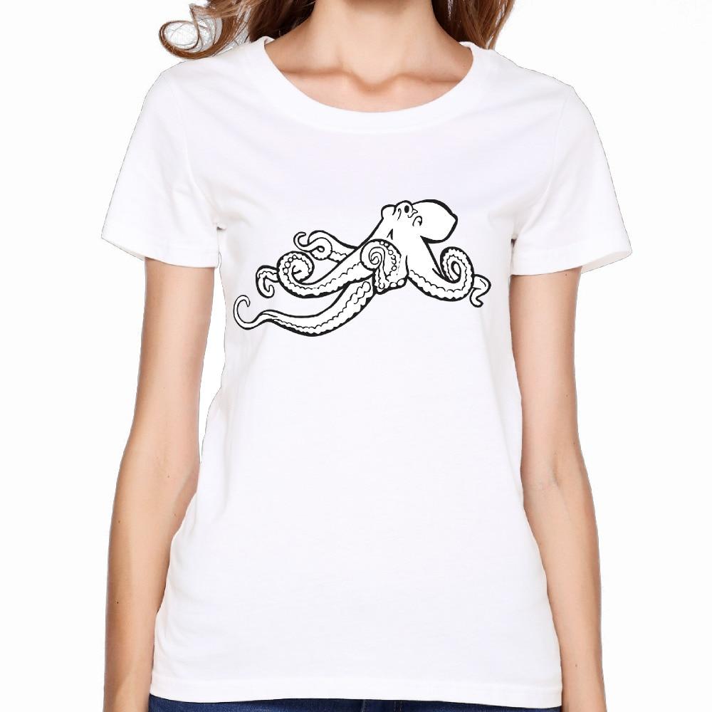 Shirt design octopus - 2017 Giant Squid Octopus Titan Greek Printing Women Premium Cotton Shirts Fashion Gift Design Casual Hip Hop