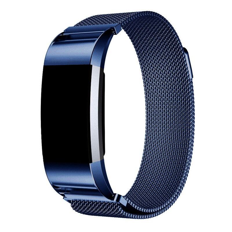 imágenes para Nuevo Lujo Reloj correa de la Banda Loop Milanese y del Acoplamiento Pulsera Correa de Pulsera Banda de Acero Inoxidable Ajustable Para Fitbit Cargo2 # Jan10