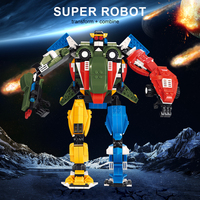 827 SZTUK Samochodów Pojazd Przekształcić Robota Samolot Model 4 w 1 Kreatywny Bloki Oświecenie Edukacyjne Zabawki Ustawione dla Dzieci