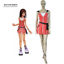 2017 Customize for adults Hot Selling Costume Anime Kingdom Hearts 2 KAIRI Red Cosplay Costume For Halloween Costume Women