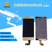 "Para 5.2 ""ZTE Nubia Z9 NX508J NX508 Axisinternational Lcd screen display + Touch digitalizador Oro/Negro envío gratis"
