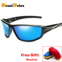 Men Polarized Sunglasses Women Black PC Frame Sun Glasses Fashion Driving UV400 Goggles Gafas G060 with box