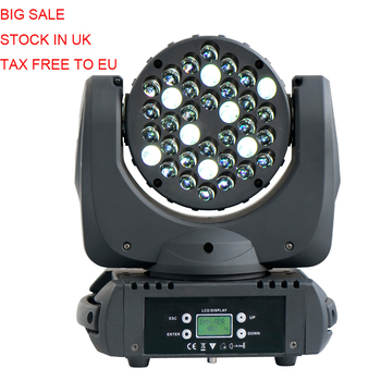4X LOT UK Stock No Tax 36x3W RGBW 4in1 Cree LED Moving Head Beam DMX Stage Light LED Super Beam Light for Party Event
