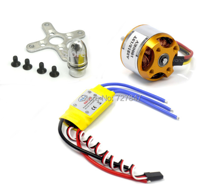 A2212 2212 1000KV Brushless Motor + 30A ESC for Multicopter 450 X525 Quadcopter 4x emax mt2213 935kv 2212 brushless motor for dji f450 x525 quadcopter multirotor