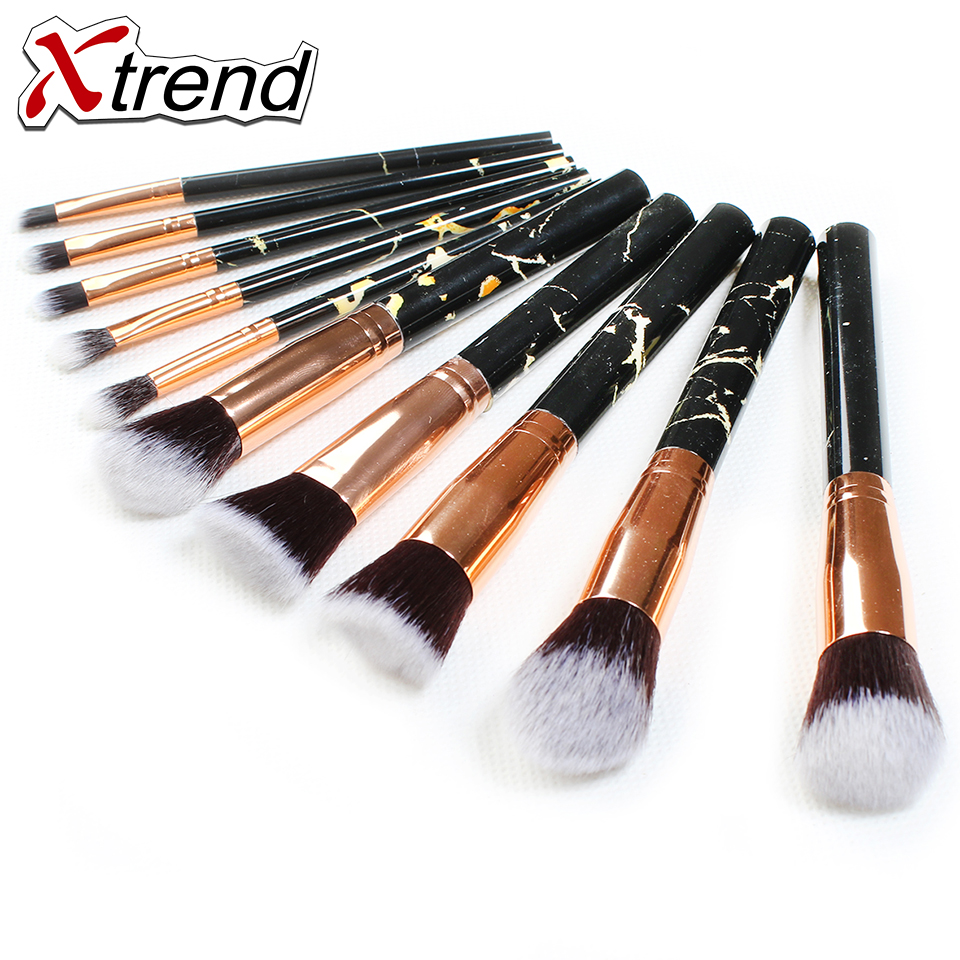 New Marble Makeup Brushes Soft Makeup Brush Sets Foundation Powder Pretty Marble Make Up Tools with Holder Gift 10pcs professional marble makeup brushes soft makeup brush set foundation powder brush beauty marble make up tools with cylinder