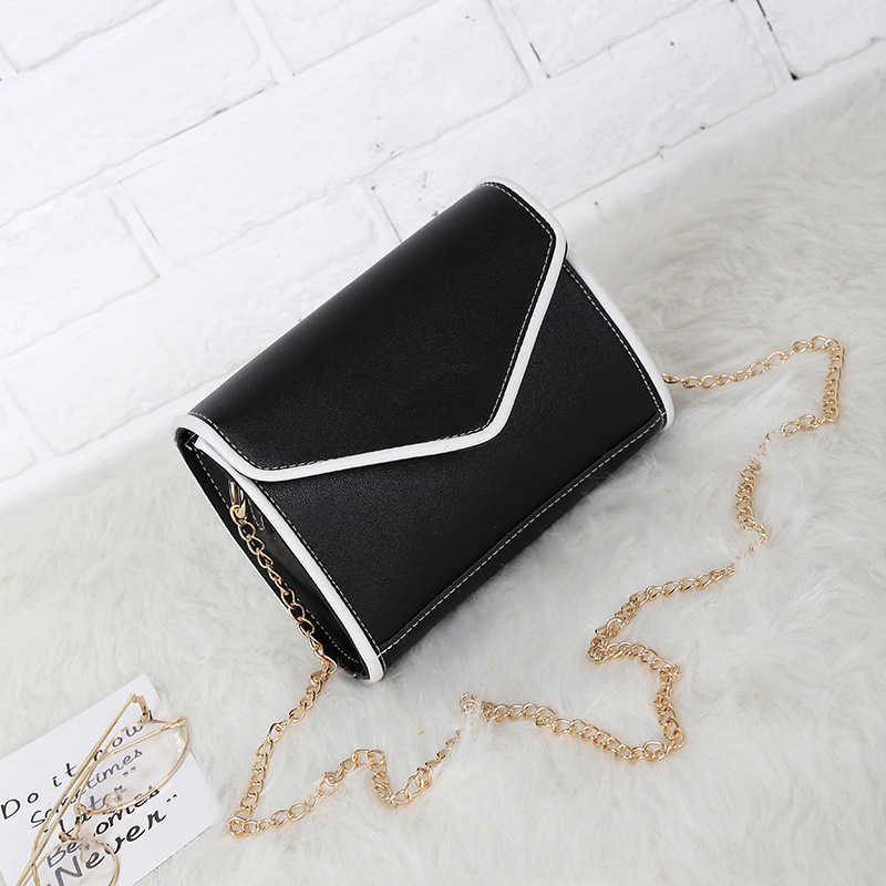New fashion handbags fashion color small package simple solid magnetic buckle bag single shoulder ba