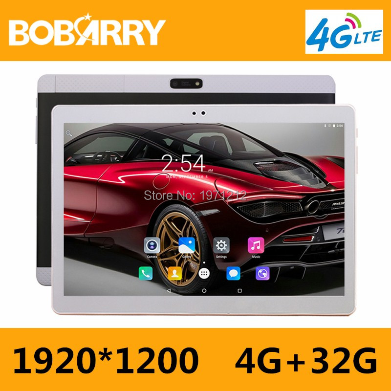 BOBARRY 10 Inch Tablet PC 3G 4G Lte Octa Core 4GB RAM 32GB ROM Dual SIM 8.0MP Android 6.0 GPS 1920*1200 HD IPS Tablet PC 10 bobarry b880 8 inch tablet pc 3g 4g lte octa core 4gb ram 64gb rom dual sim 8 0mp android 6 0 gps 1280 800 hd ips tablet pc 8