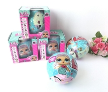 Cute LOL Boneca Plastic Surprise Egg Doll Toys For Girls Series 1 Series2 Little Lil Sisters