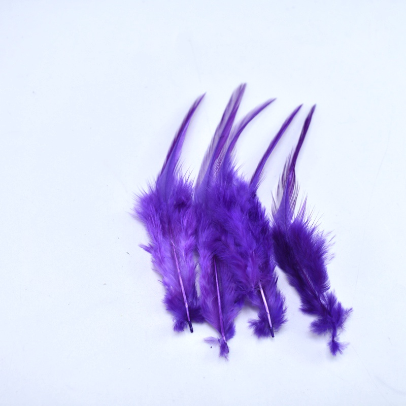 20pcs Purple Chicken Feather for Crafts Party Decorative Plumas 10 15cm DIY Dyed Natural Feathers Home Christmas Accessories in Feather from Home Garden